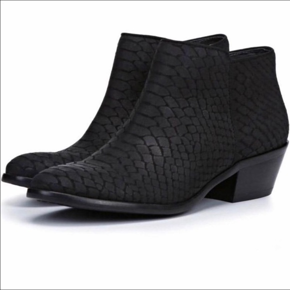 Sam Edelman Shoes - Sam Edelman Petty snakeskin Chelsea ankle boots